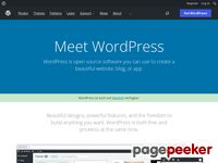 Preview of wordpress.org